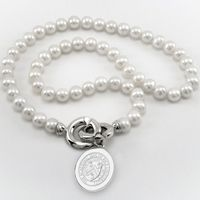 Rice University Pearl Necklace with Sterling Silver Charm