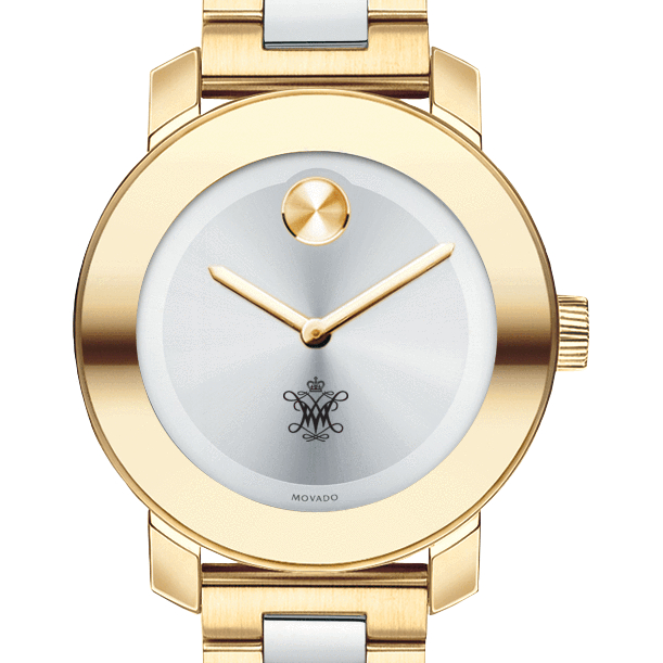 William & Mary Women's Movado Two-Tone Bold