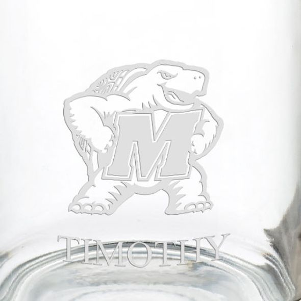 University of Maryland 13 oz Glass Coffee Mug - Image 3