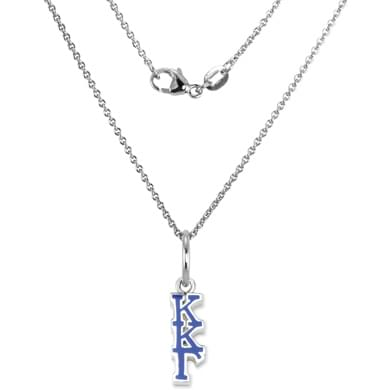 Kappa Kappa Gamma Sterling Silver Necklace with Greek Letter