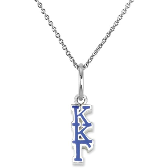 Kappa Kappa Gamma Sterling Silver Necklace with Greek Letter - Image 2