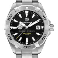 University of Virginia Men's TAG Heuer Steel Aquaracer with Black Dial