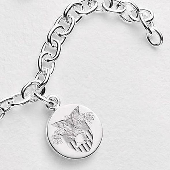 West Point Sterling Silver Charm Bracelet - Image 1