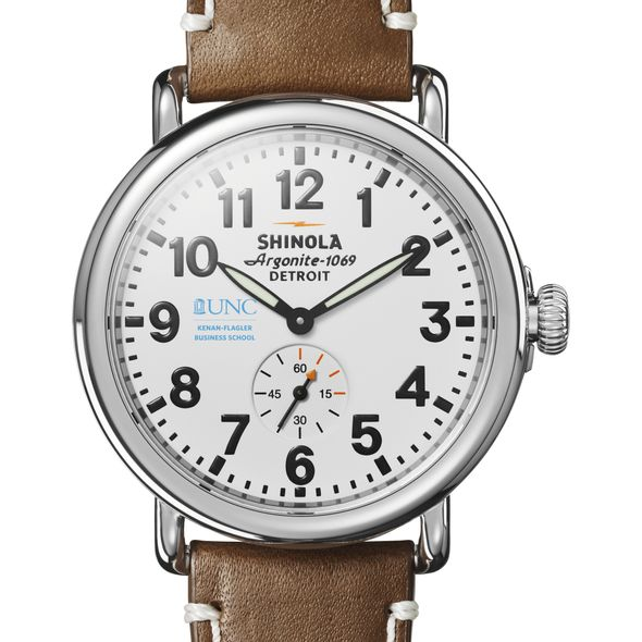 UNC Kenan-Flagler Shinola Watch, The Runwell 41mm White Dial