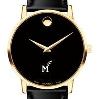 George Mason University Men's Movado Gold Museum Classic Leather