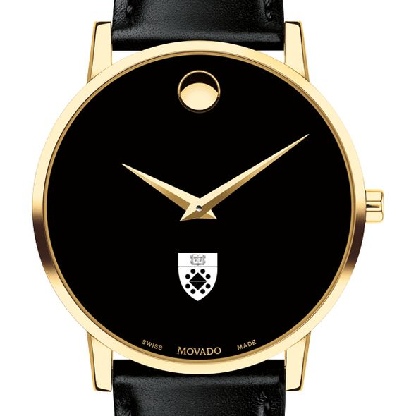 Yale SOM Men's Movado Gold Museum Classic Leather - Image 1