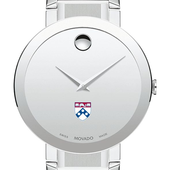 University of Pennsylvania Men's Movado Sapphire Museum with Bracelet - Image 1