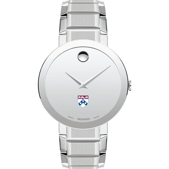 University of Pennsylvania Men's Movado Sapphire Museum with Bracelet - Image 2