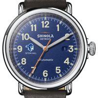 Seton Hall Shinola Watch, The Runwell Automatic 45mm Royal Blue Dial