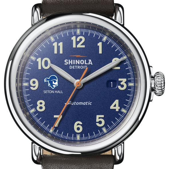 Seton Hall Shinola Watch, The Runwell Automatic 45mm Royal Blue Dial - Image 1