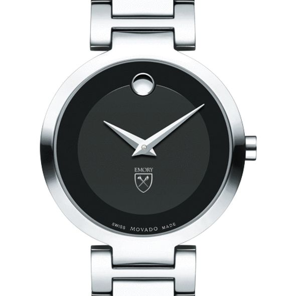Emory University Women's Movado Museum with Steel Bracelet