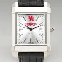 Houston Men's Collegiate Watch with Leather Strap