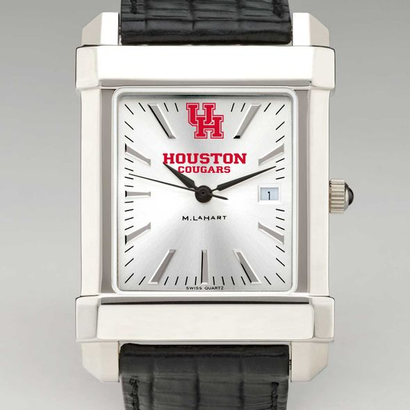 Houston Men's Collegiate Watch with Leather Strap - Image 1
