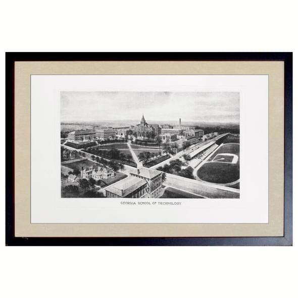 Historic Georgia Tech Black and White Print