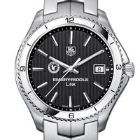 Embry-Riddle Men's Link Watch with Black Dial