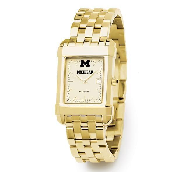 Michigan Men's Gold Quad Watch with Bracelet - Image 2