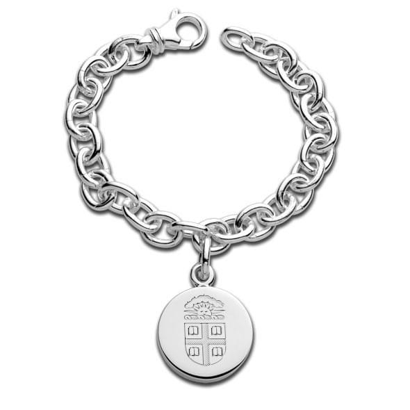 Brown Sterling Silver Charm Bracelet