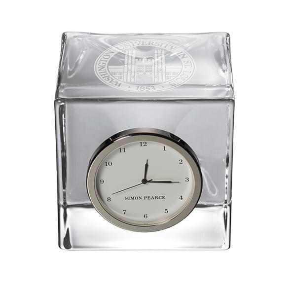 WashU Glass Desk Clock by Simon Pearce