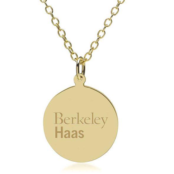 Berkeley Haas 18K Gold Pendant & Chain - Image 1