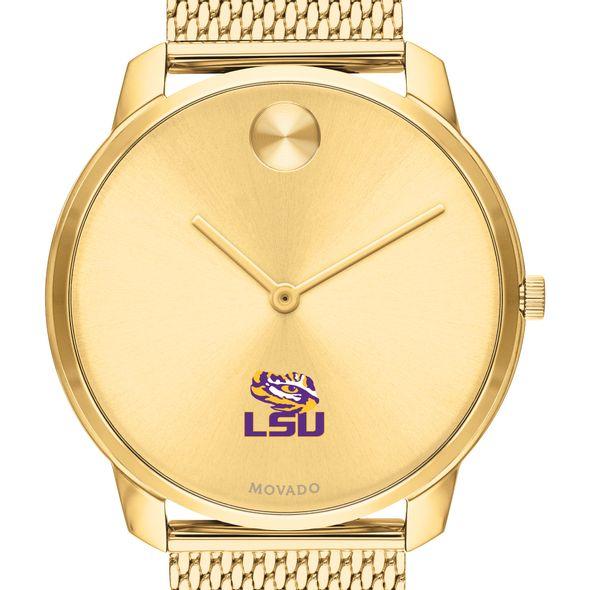 LSU Men's Movado Bold Gold 42 with Mesh Bracelet - Image 1