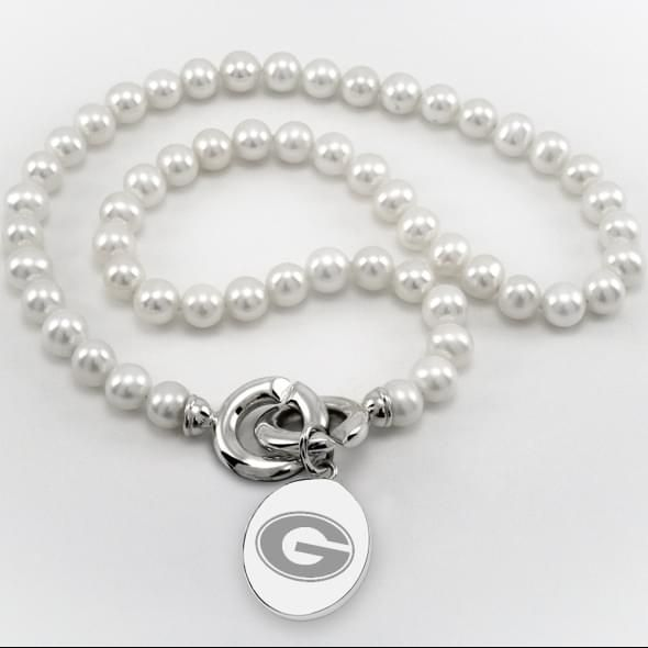 Georgia Pearl Necklace with Sterling Silver Charm