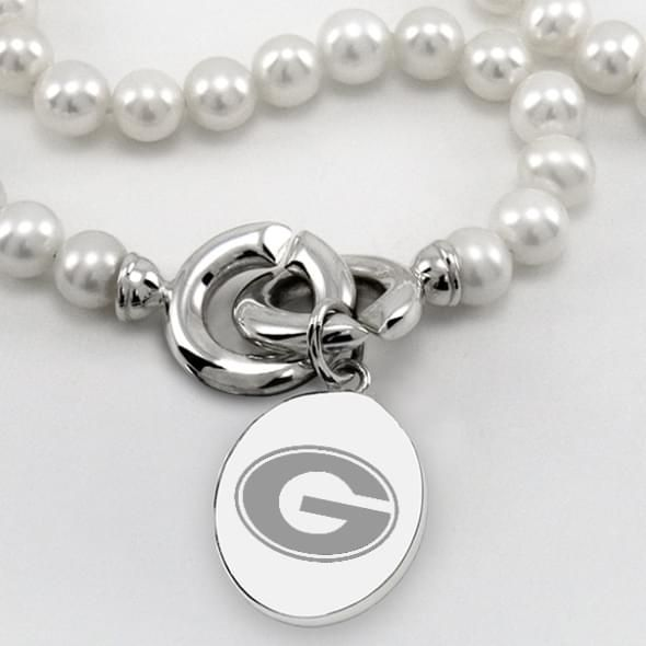 Georgia Pearl Necklace with Sterling Silver Charm - Image 2