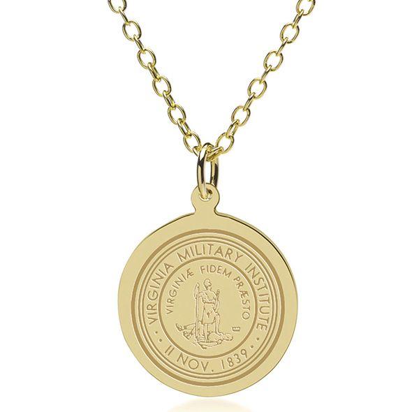 Virginia Military Institute 14K Gold Pendant & Chain