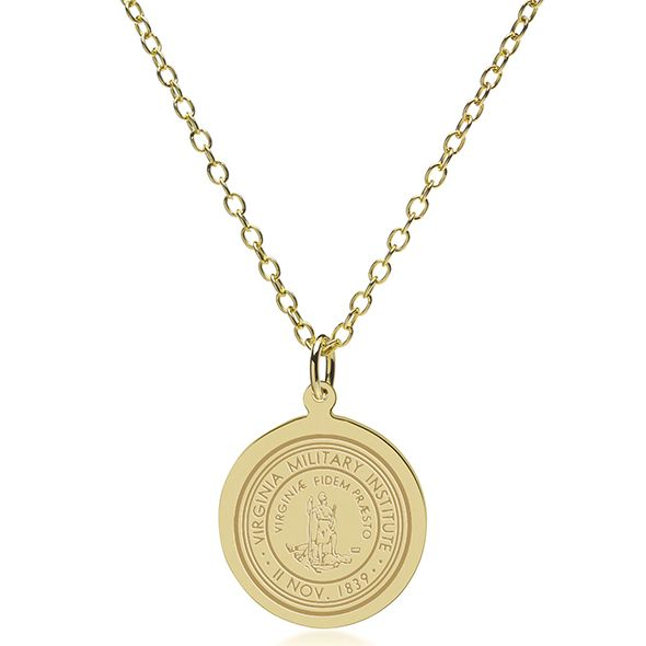 Virginia Military Institute 14K Gold Pendant & Chain - Image 2