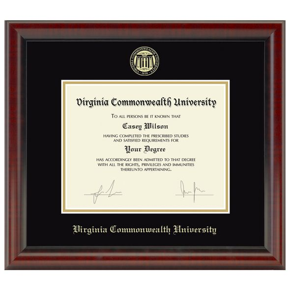 Virginia Commonwealth University Diploma Frame, the Fidelitas - Image 1