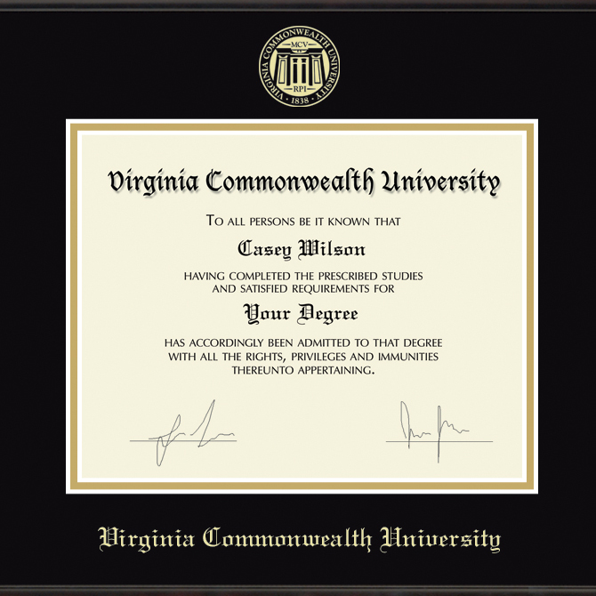 Virginia Commonwealth University Diploma Frame, the Fidelitas - Image 2