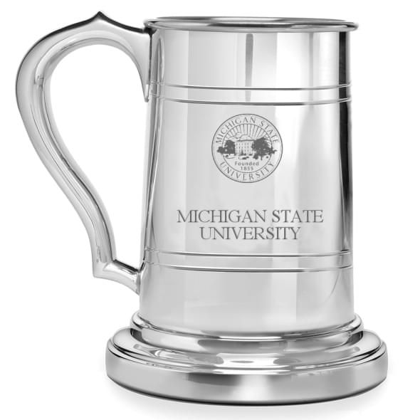 Michigan State Pewter Stein