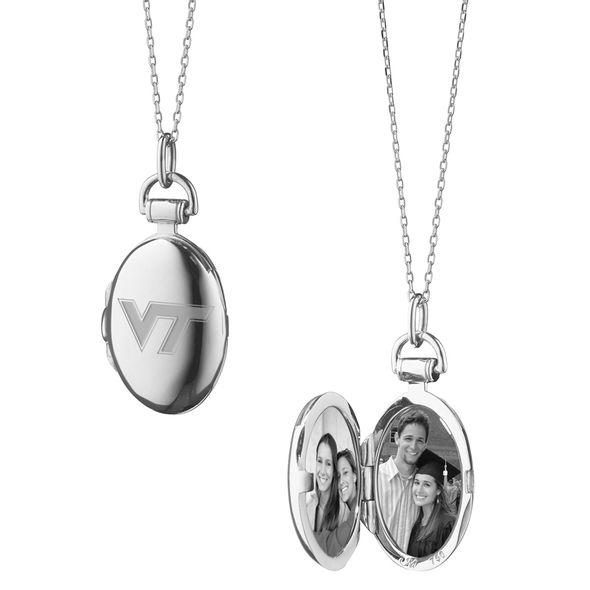 Virginia Tech Monica Rich Kosann Petite Locket in Silver