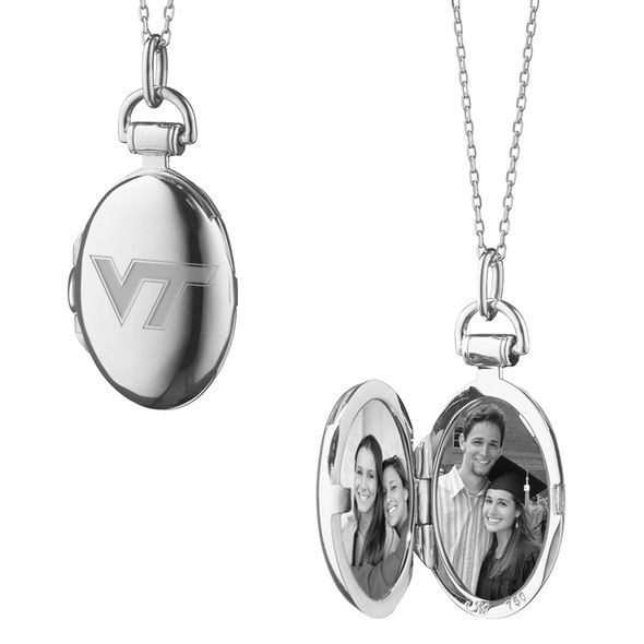Virginia Tech Monica Rich Kosann Petite Locket in Silver - Image 2