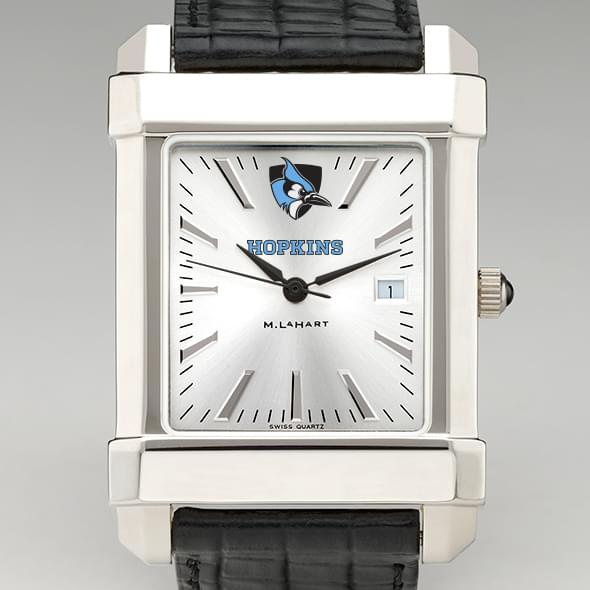 Johns Hopkins Men's Collegiate Watch with Leather Strap