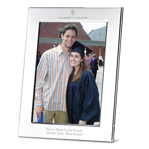 Wisconsin Polished Pewter 5x7 Picture Frame