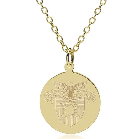 West Point 18K Gold Pendant & Chain - Image 1