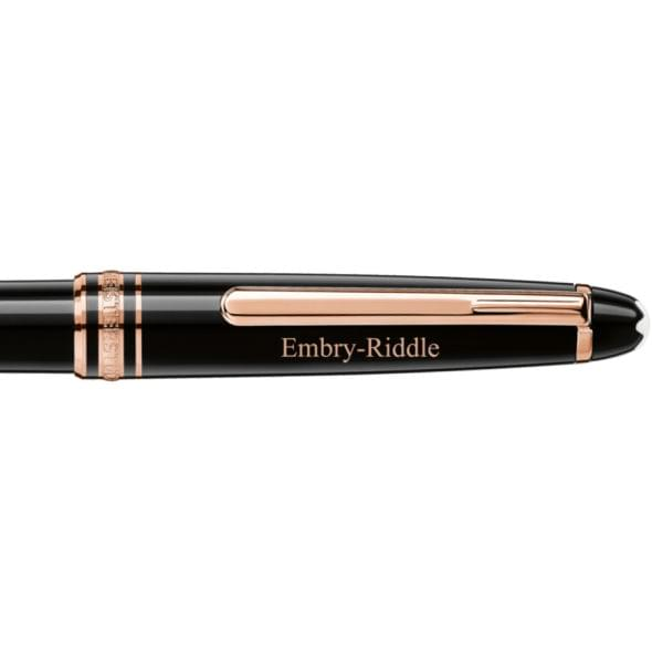 Embry-Riddle Montblanc Meisterstück Classique Ballpoint Pen in Red Gold - Image 2