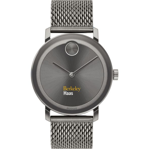 Haas School of Business Men's Movado BOLD Gunmetal Grey with Mesh Bracelet - Image 2