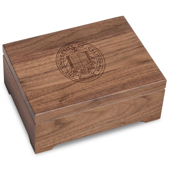 UC Irvine Solid Walnut Desk Box - Image 1
