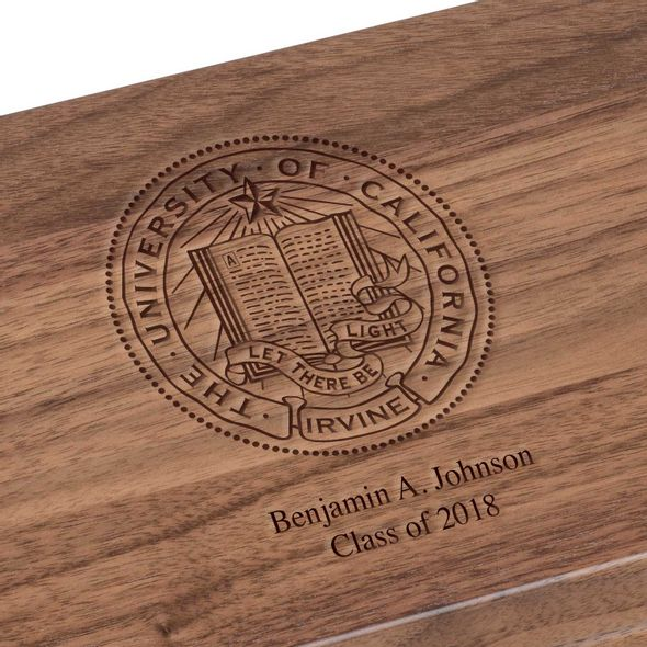 UC Irvine Solid Walnut Desk Box - Image 3
