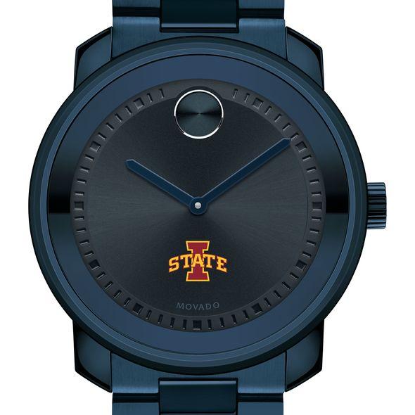 Iowa State University Men's Movado BOLD Blue Ion with Bracelet