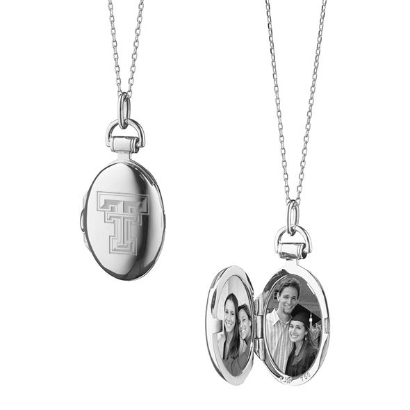 Texas Tech Monica Rich Kosann Petite Locket in Silver