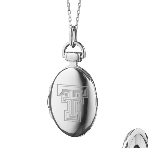 Texas Tech Monica Rich Kosann Petite Locket in Silver - Image 2