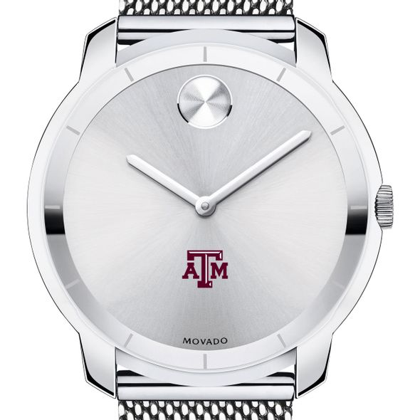 Texas A&M University Men's Movado Stainless Bold 44