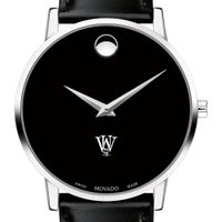 WashU Men's Movado Museum with Leather Strap