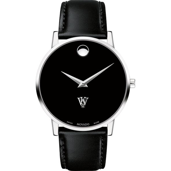 WUSTL Men's Movado Museum with Leather Strap - Image 2