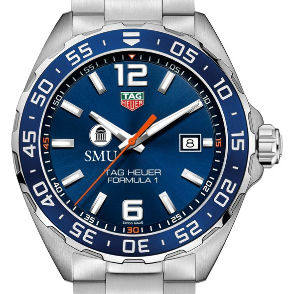 Southern Methodist University Men's TAG Heuer Formula 1 with Blue Dial & Bezel