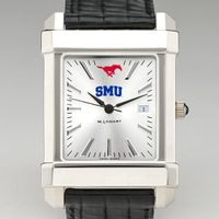 SMU Men's Collegiate Watch with Leather Strap