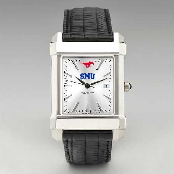 SMU Men's Collegiate Watch with Leather Strap - Image 2
