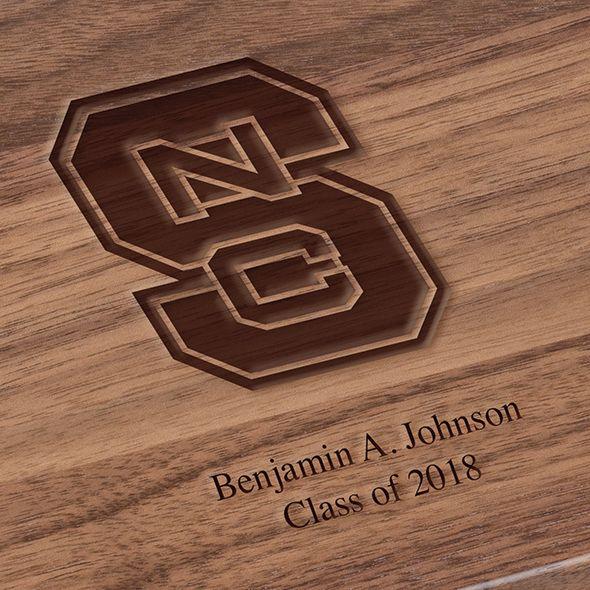 North Carolina State Solid Walnut Desk Box - Image 3